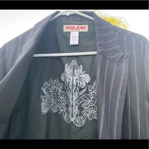 Vintage Guess Jeans pinstriped suit jacket M/M